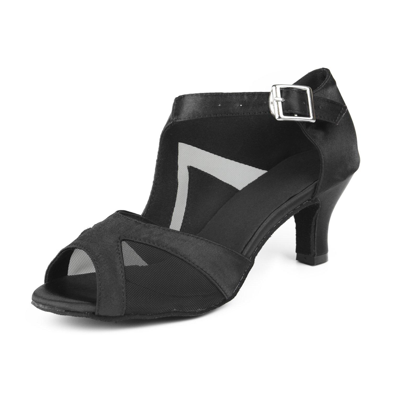 Sukutu cómodos zapatos de baile latino para mujer ideales para bailar salsa