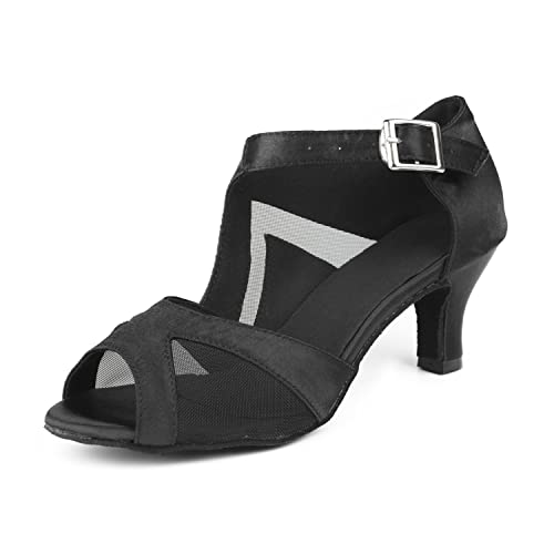 Sukutu Chaussures de danse tendance, sexy et confortables pour femme Talon  haut, satin Piste