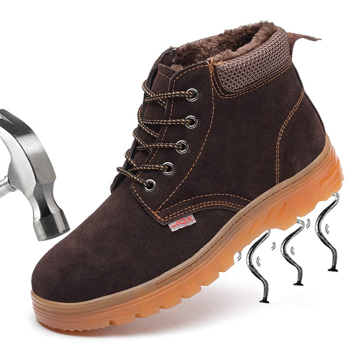 SUADEEX Homme Femme Chaussure de Travail Bottes Impermeable Chaussure de Sécurité Embout en Acier Antidérapante Baskets Chaussures de Randonnée Unisexes
