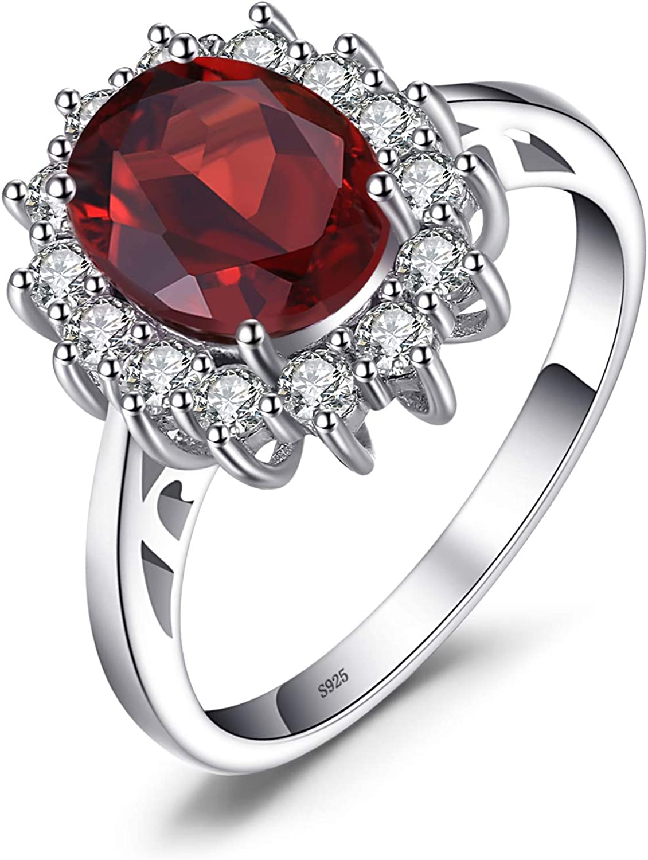 JewelryPalace Anillo Princesa Diana Kate Middleton Con Piedra Preciosa Anillo de Compromiso Plata de ley 925