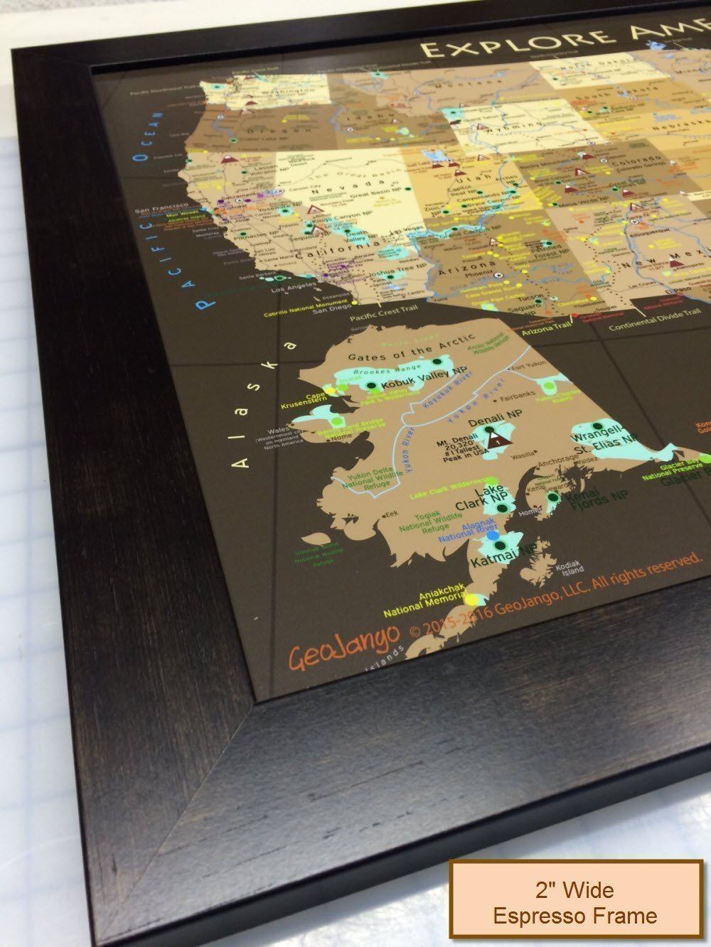 Amazoncom National Parks Map And USA Map Explore America Map - Framed us map