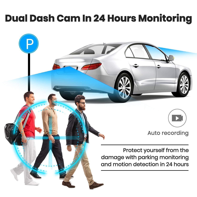 Power Box Yakola Kit telecamera per auto con cavo rigido DVR adattatore mini fusibile OBD 12 V-5 A solo per videocamere Y6 Dash Cams Recorder