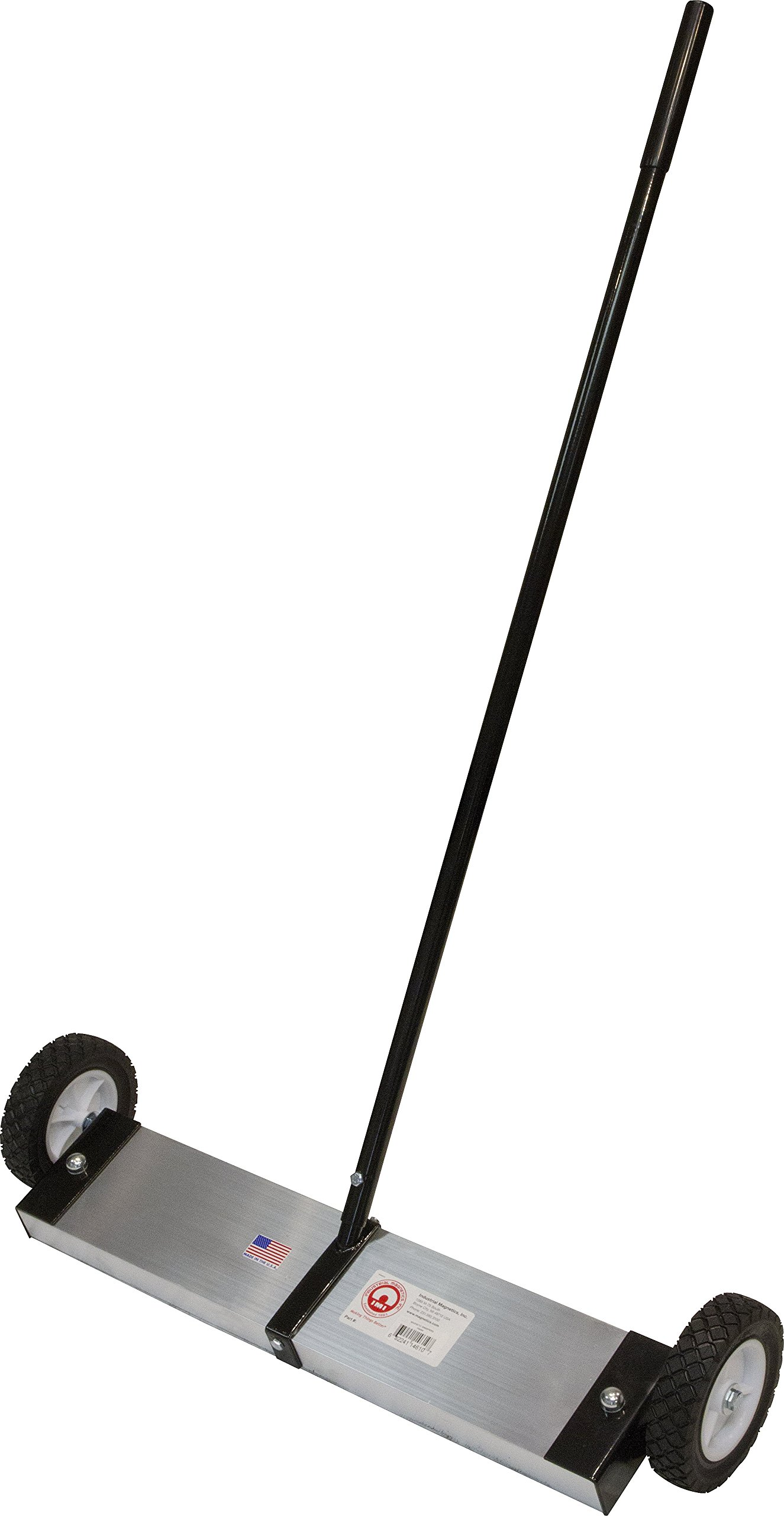 MAG-MATE FS2400 Magnetic Floor Sweeper with 6'' Wheels, 18 x 5 x 42'' by Industrial Magnetics
