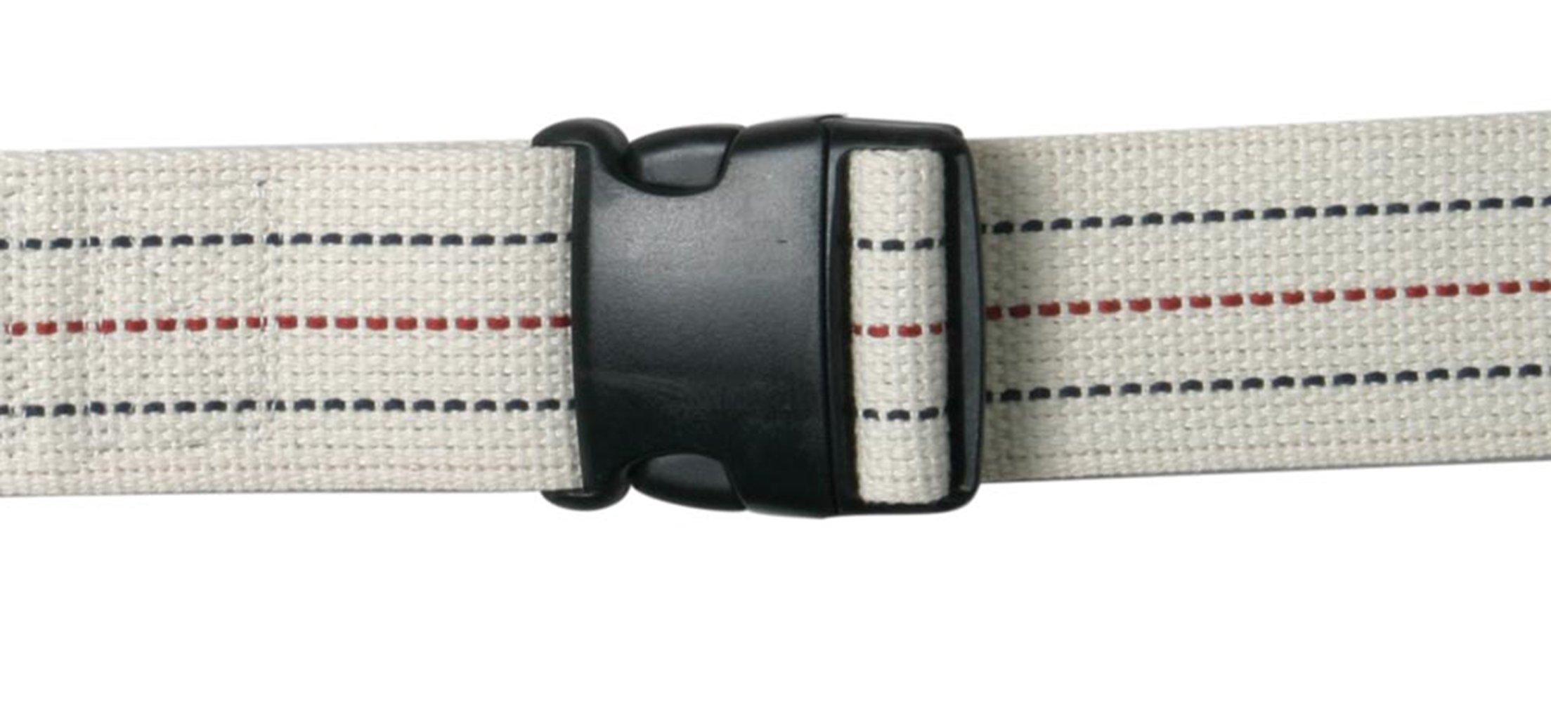 AliMed Gait Belt - Patient Transfer Belt, Plastic Buckle, 54'', Pinstripe, 20/cs