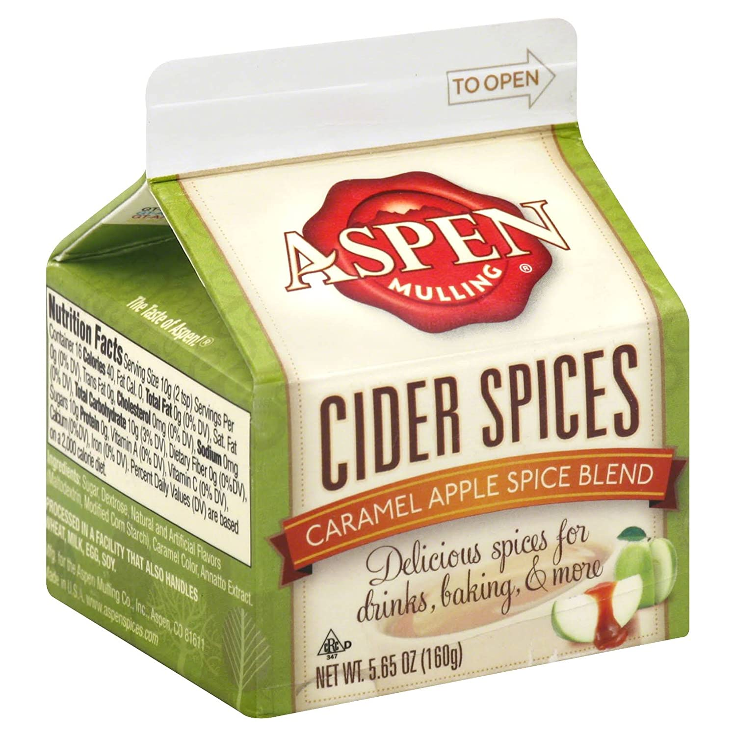 Aspen Mulling Cider Spices, Caramel Apple Blend, 5.65-Ounce Cartons (Pack of 9)