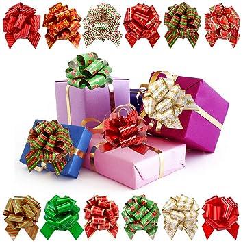 LUDILO 12pcs 5u0027u0027 Pull Bows Christmas Gift Bows Gift Wrap Bows Ribbons Decorative Bows  sc 1 st  Amazon.com & Amazon.com: LUDILO 12pcs 5u0027u0027 Pull Bows Christmas Gift Bows Gift Wrap ...