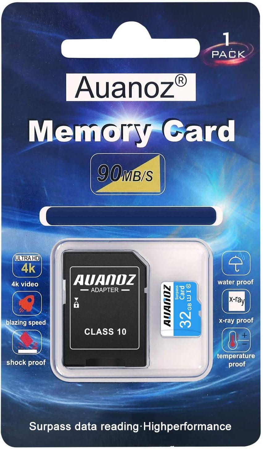 Auanoz Tarjeta De Memoria TF Ultra Class 10 UHS-I Tarjeta De Memoria De Alta Velocidad para Teléfono,Tableta y PC - con Adaptador. (Azul-32gb): Amazon.es: Electrónica
