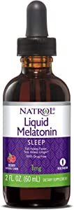 Natrol Liquid Melatonin Tincture, Helps You Fall Asleep Faster, Stay Asleep Longer, Faster Absorption, 100% Vegetarian, Berry Flavor, 1mg, 2 Fl. Ounce Tincture Bottle