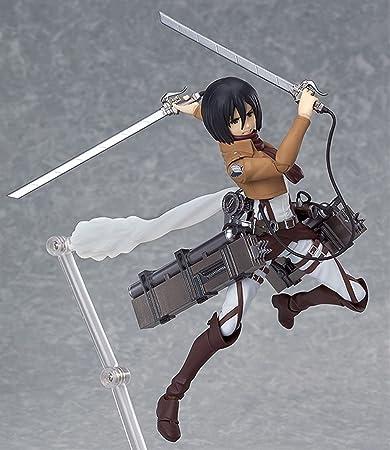 Attack on titan kyojin mikasa ackerman pvc figure model juguet 12cm