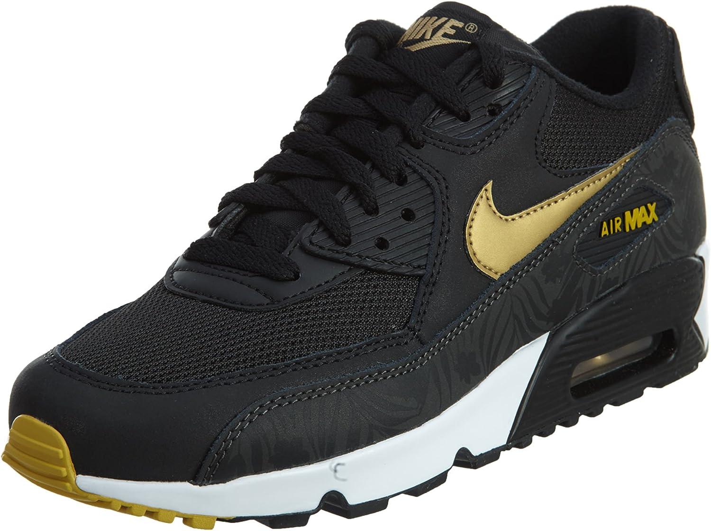Nike air Max 90 Print Mesh GS, Chaussures de Running Homme