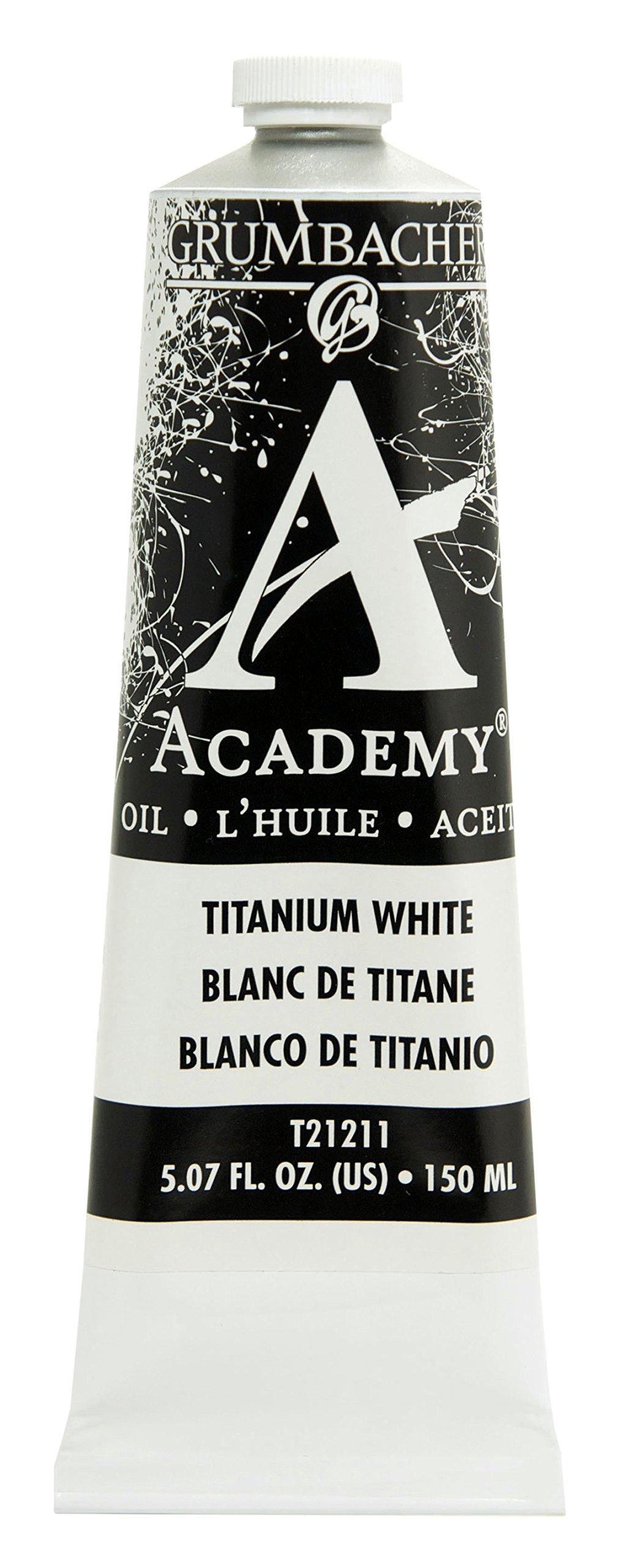 Grumbacher Academy Oil Paint, 150 ml/5.07 oz, Titanium White