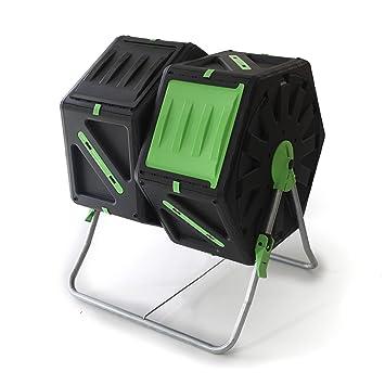UPP Carga de compostador rollkom Póster 2 Kammern por 70L | - Compostador | Composter | Interno ventilación | Seguro contra parásitos: Amazon.es: Jardín
