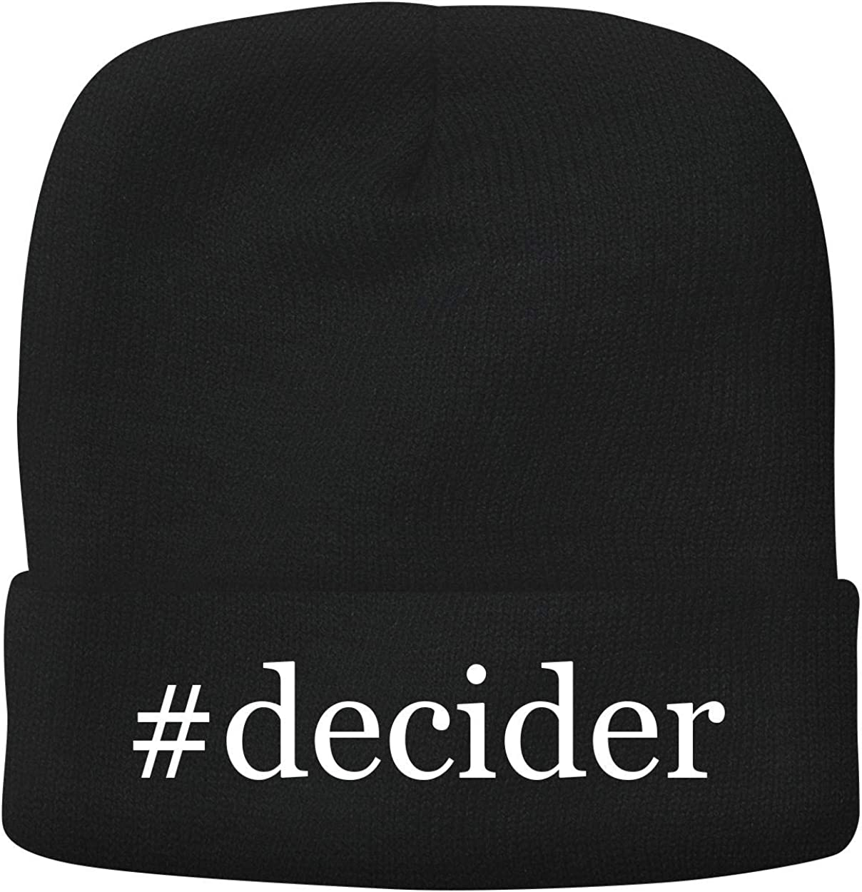 BH Cool Designs #Decider - Adult Hashtag Comfortable Fleece Lined Beanie