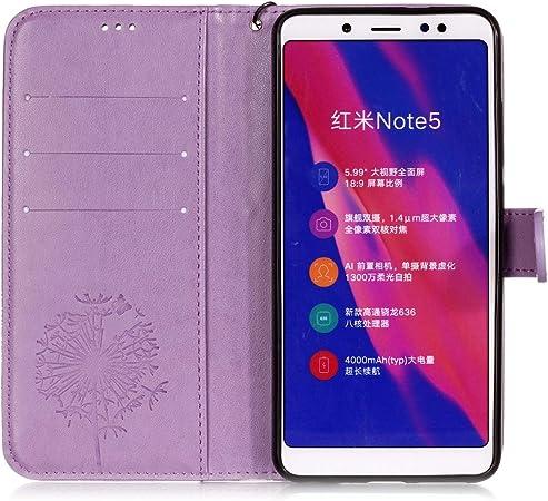 Carols Xiaomi Redmi Note 5 Pro Wallet Funda Cartera Funda.: Amazon ...