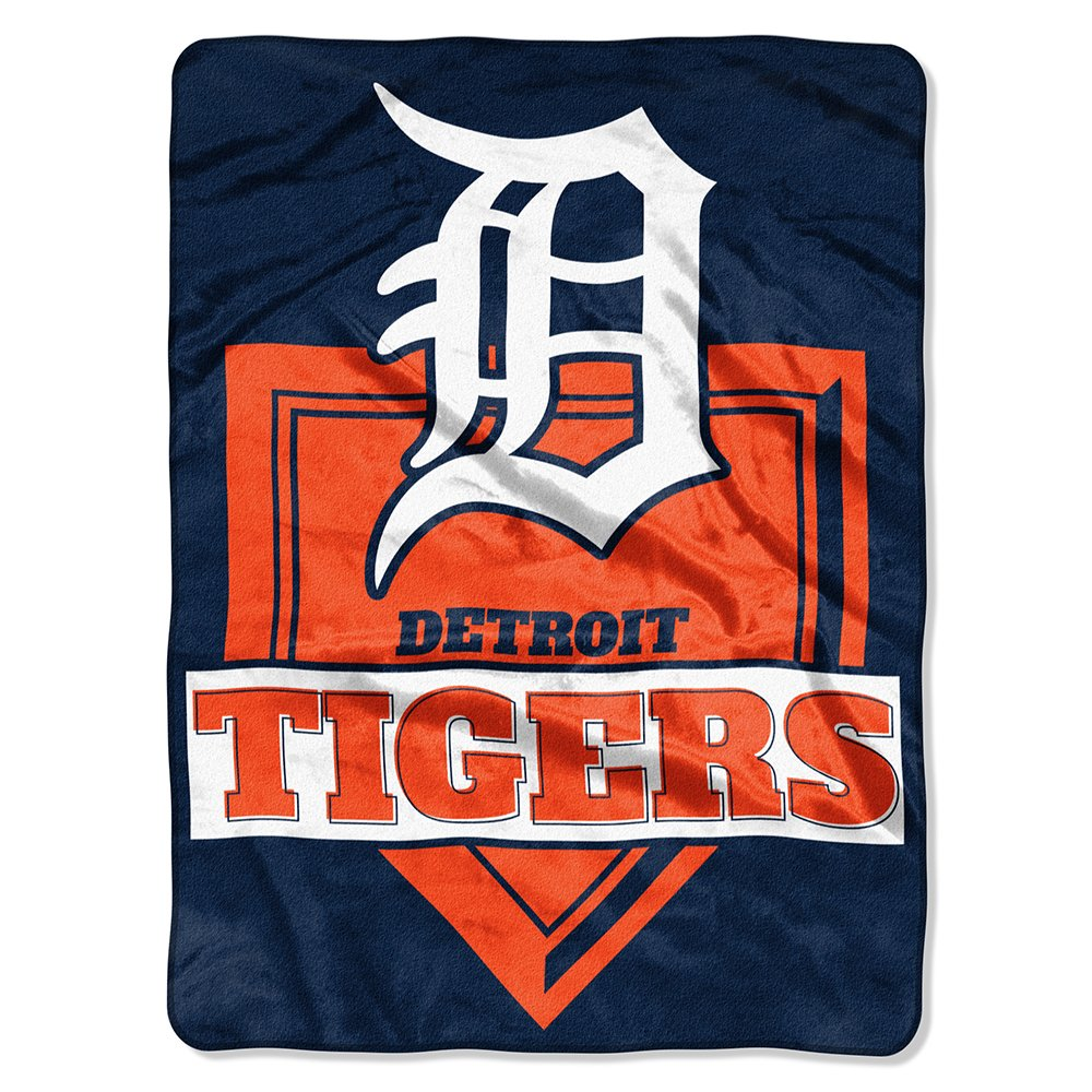 MLB Detroit Tigers Royal Plush Raschel Throw、1サイズ、マルチカラー B071XQ3YL8