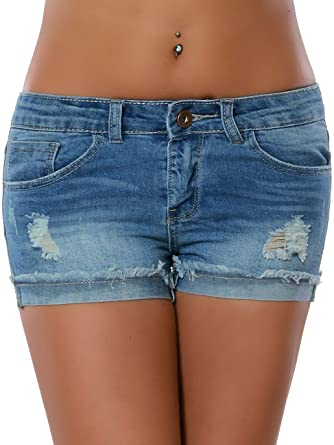 5316cec34bb3 Damen Jeans Shorts Hot-Pants Kurze Sommer Hose Denim No 15890 Blau M   38   Amazon.de  Bekleidung