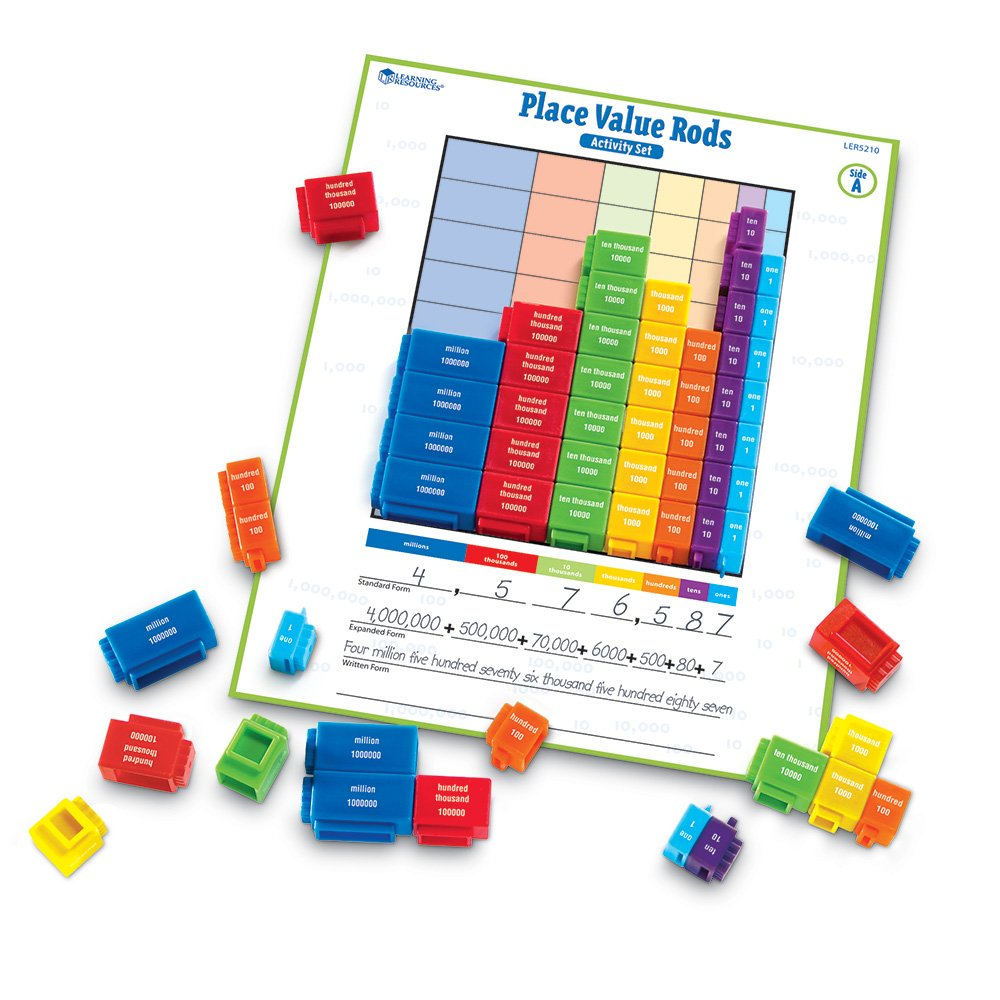 place value rods classroom set math centers stations manipulatives