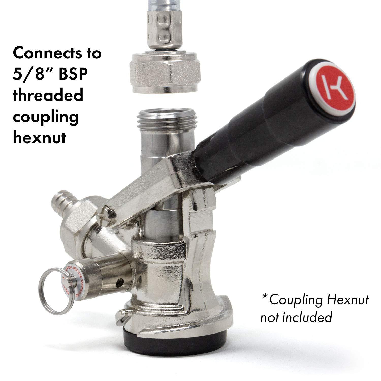 Black KC  KT85D-L Kegco KC KT85D-L Beer Keg Coupler D System Tap Lever Handle