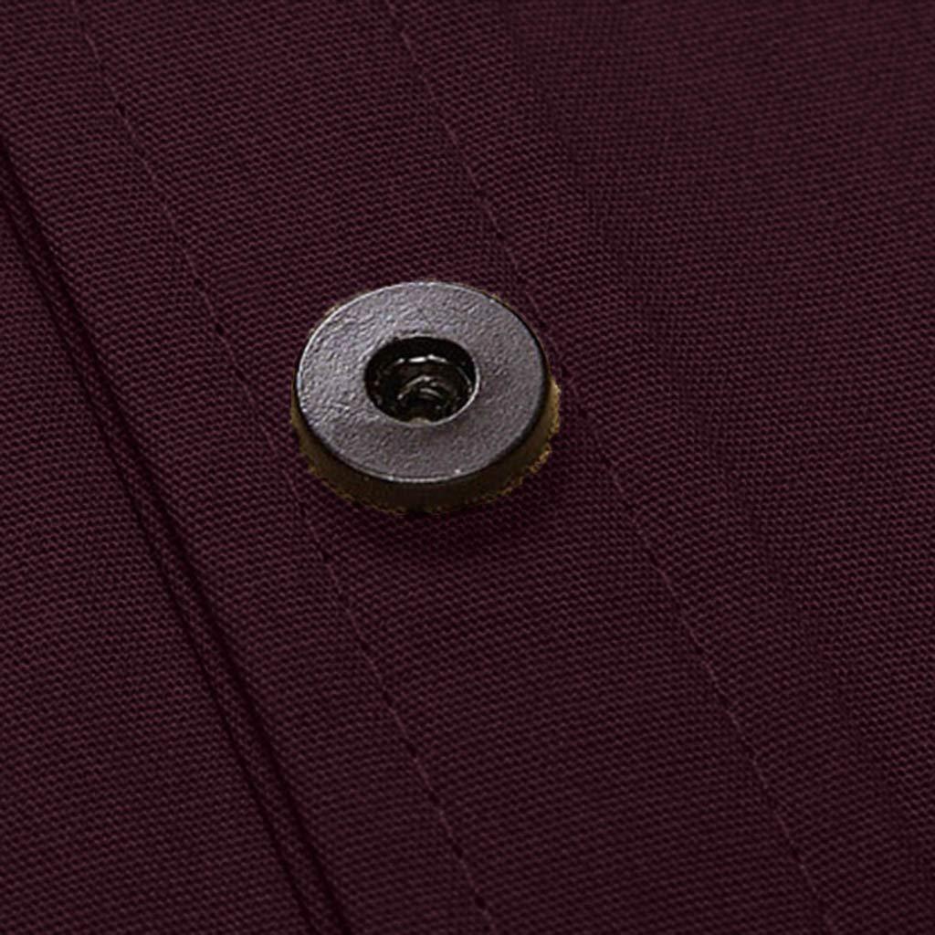 Serzul Formal Dress Shirts Military Cargo Slim Short//Long Sleeve Top Blouse Mens Regular Fit Button Down Collar Shirt