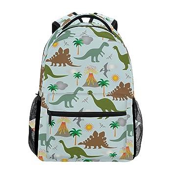 Tizorax - Mochila escolar con diseño de dinosaurios y volcanes, ideal para llevar los libros o para viajar o hacer senderismo: Amazon.es: Deportes y aire ...