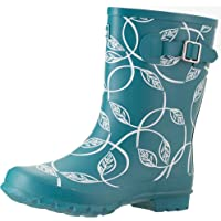 Jileon Half Height Rain Boots for Women - Wide in The Foot and Ankle - Durable All Weather Boots