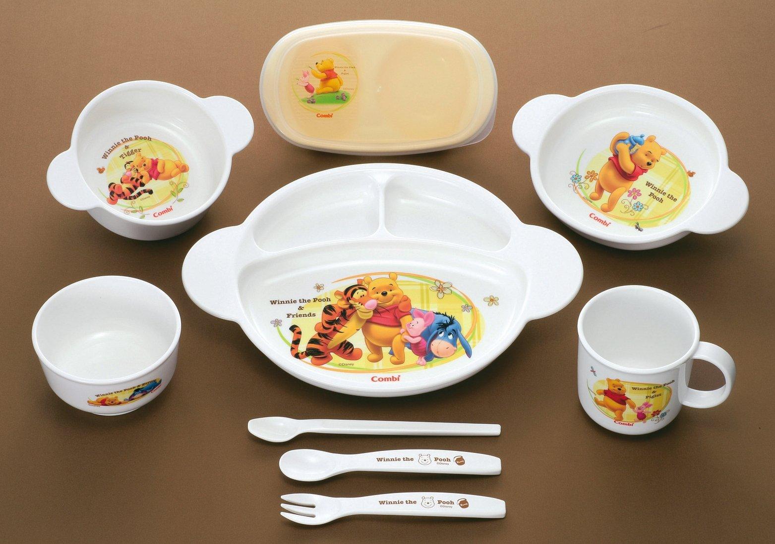 Combi Winnie the Pooh Baby Food Dish set Feeding dish box set