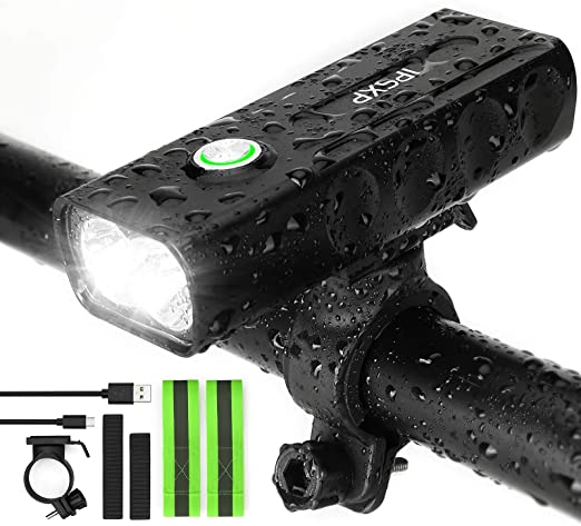 5000LM Bike Front Light Bicycle LED Lamp Headlight Flashlight USB Rechargeable