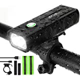 IPSXP 1000 Lumens Bike Light, USB Rechargeable LED Bicycle Front Headlight High Bright 6 Hours Mountain Road Cycling…