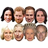 Prince William Version 3 Royal Celebrity Card Mask All Masks Are Pre-Cut!