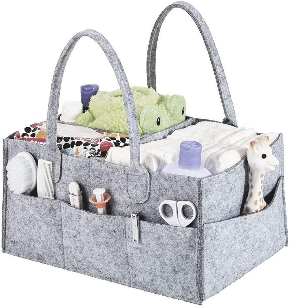 Mrs Hinch Grey Storage Organizer Bag Box Home Cleaning Kit Compartments Nappy UK
