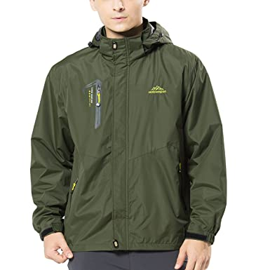 Amazon.com: Spvoltereta Men's Lightweight Outdoor Waterproof ...