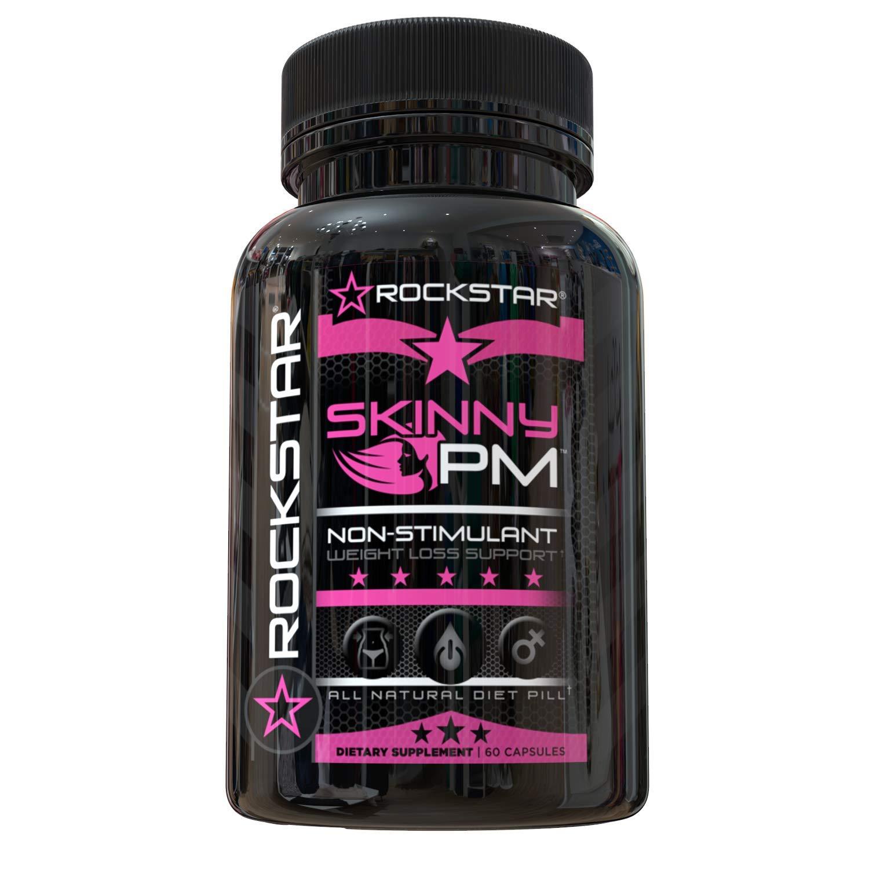 Rockstar Skinny PM Diet Pill for Women, Thermogenic Hyper-Metabolizer, Nighttime Non-Stimulant Weight Loss Pills for Women, 60 Veggie Caps