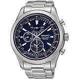 Seiko - SPC125P1 - Montre Homme - Quartz Chronographe - Cadran Bleu - Bracelet Acier Gris