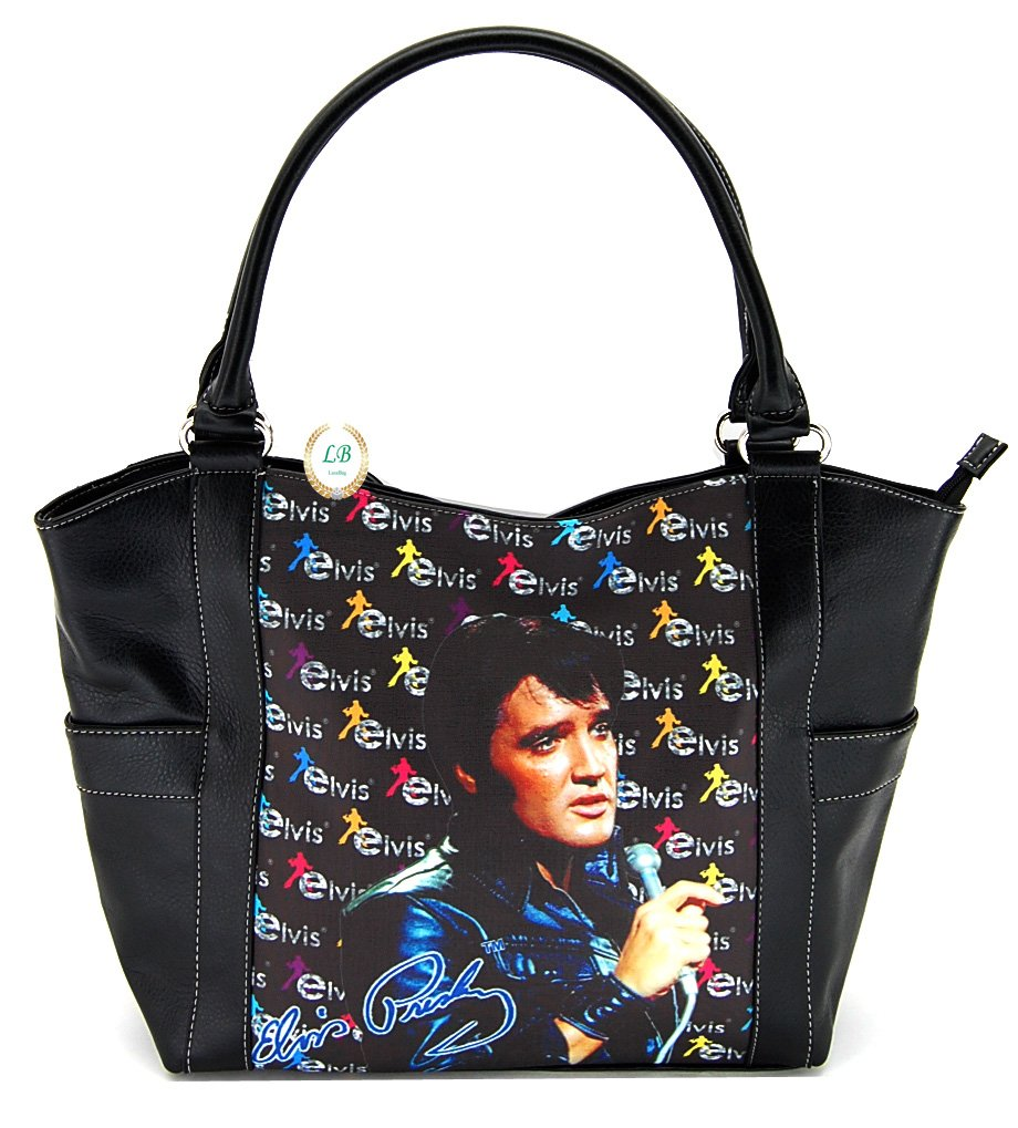 Elvis Presley Large Purse, Black Jacket with Microphone