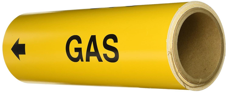 Brady 15544 Pipe Marker Yellow Gas