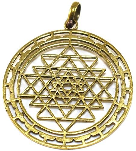Amazon.com: Divine Sri Yantra Pendant Talisman Protection ...