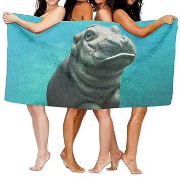 guolinadeou Toalla de baño, Microfibra Ultra Absorbente, Toalla de Playa para Hombres, Mujeres, niños, hipopótamo para Picnic: Amazon.es: Hogar