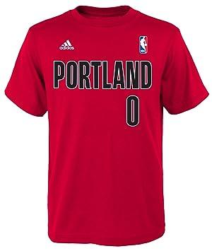 Adidas Damian Lillard Portland Trail Blazers Juventud NBA Jugador Rojo Camiseta, Rojo: Amazon.es: Deportes y aire libre