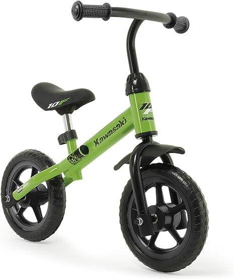 INJUSA Bicicleta Kawasaki Balance sin Pedales para Niños de 3 Años de Fácil Manejo y Ruedas de Goma Eva, Color Verde, 69 x 38,5 x 52 cm (5085): Amazon.es: Deportes y aire libre