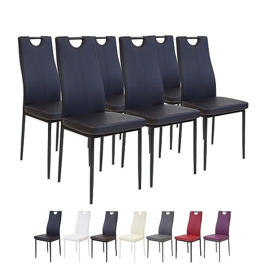 81 opinioni per Albatros 2914 SALERNO Set di 6 sedie da pranzo, nero