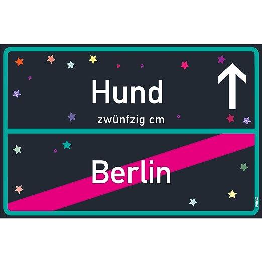 Cartel para perro de Vanva Berlín, negro, azul, placa para ...