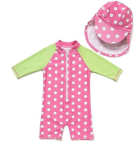 Amazon.com: Traje de baño de una pieza para bebé/niña con ...
