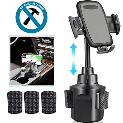 Car Cup Holder Phone Mount,Upgraded Cell Phone Holder for Car, Adjustable Automobile Smart Phone Cradle Car Mount for iPhone 11 Pro/XR/XS Max/X/8/7 Plus/6s/Samsung S10+/Note 9/S8 Plus/S7 Edge