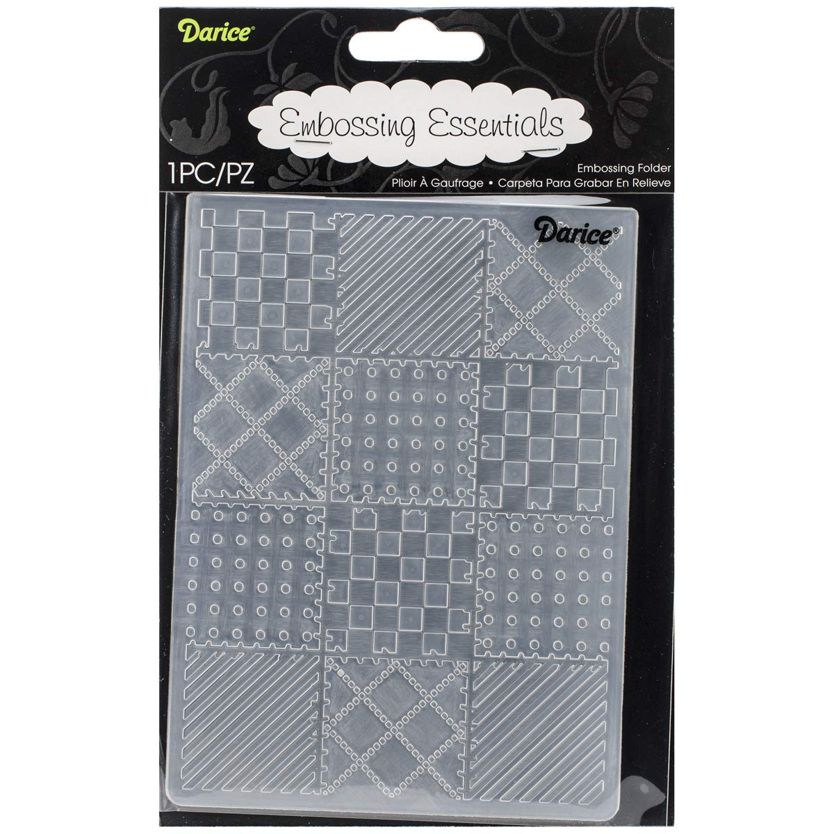 Embossing Folder Quilt Blocks 4.25 X 5.75 Inches (8 Pack)