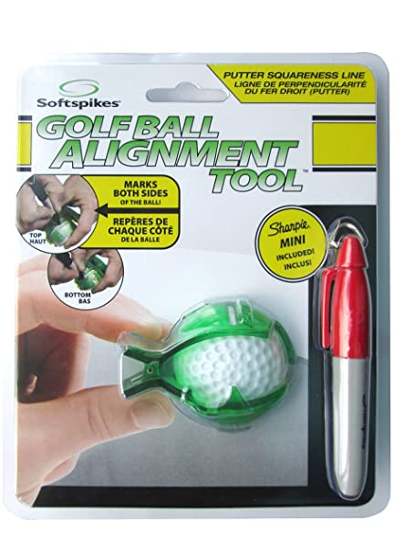 .com : softspikes blm8006 golf ball alignment tool : golf ...