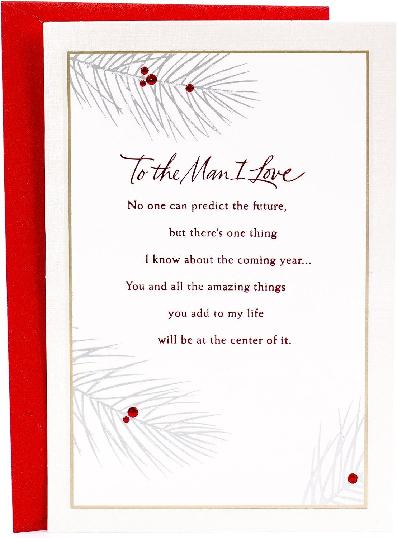Enjoyable Amazon Com Hallmark Christmas Romantic Greeting Card For Husband Personalised Birthday Cards Paralily Jamesorg