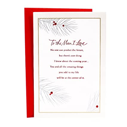 Hallmark Christmas Romantic Greeting Card For Husband Or Boyfriend Love Of My Life Forever Amazonin Office Products