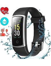 CHEREEKI Montre Connectée, Tracker d'Activité Tension Artérielle Etanche IP68 Smartwatch Sport Écran Coloré avec Moniteur de Sommeil pour iPhone Huawei Samsung Xiaomi Sony