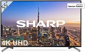 Sharp Lc 55ui8652e 139 Cm 55 Zoll Fernseher 4k Ultra Hd Smart Led Tv Harman Kardon Soundsystem 3 Hdmi Anschlüsse Triple Tuner Hdr Heimkino Tv Video