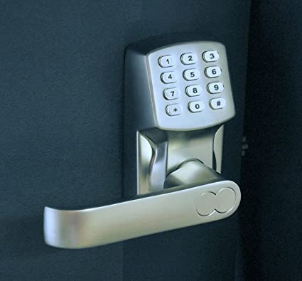 Electronic Keyless Door Lock Set - Satin Nickel (For Left-Hinged Doors Only) : keyless door - pezcame.com